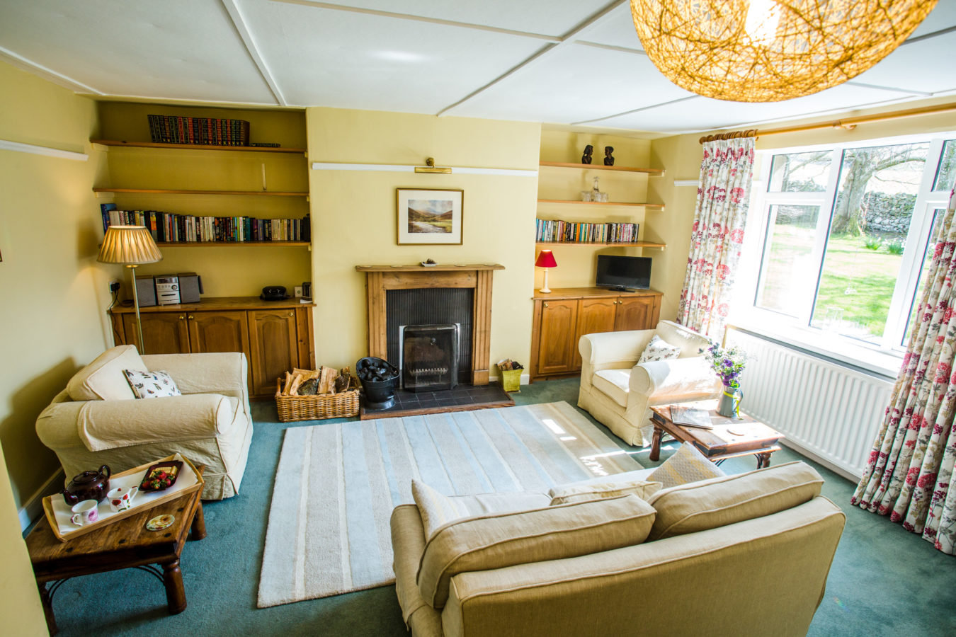 Coldburn Cottage sitting room. College Valley.